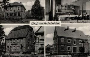 1956 Schulhaus, Gaststube im Gasthaus zum Ochsen, Gasthaus zum Ochsen, Rathaus mit Brunnen