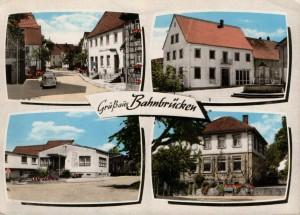 1970 Gasthaus zum Ochsen, Rathaus mit Brunnen, Raiffeisenbank, Schulhaus