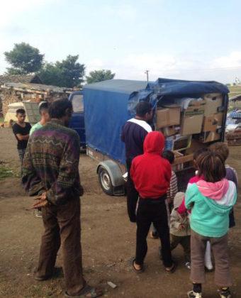 Sechs große LKW`s nach Rumänien entsandt